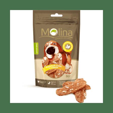 Molina Куриный стейк с сыром для собак