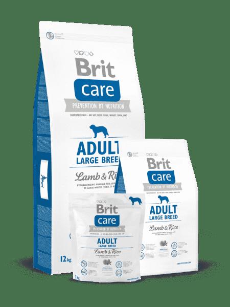 Brit Care Adult Large Breed для взрослых собак крупных пород с ягненком и рисом.