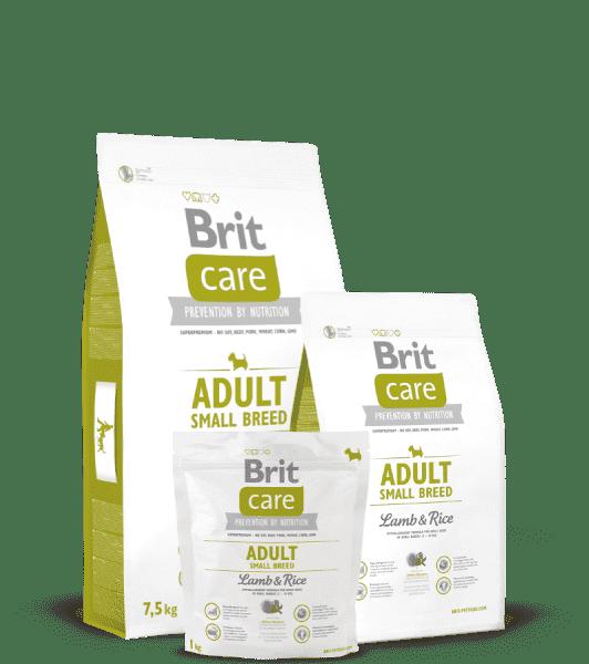 Brit Care Adult Small Breed для взрослых собак мелких пород с ягненком и рисом