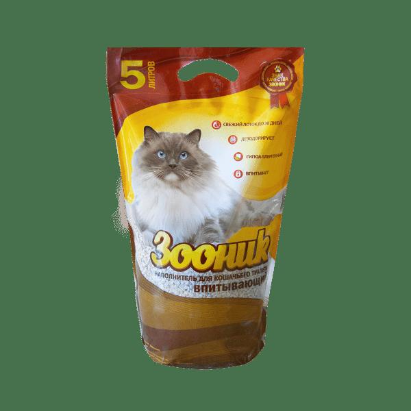Зооник впитывающий наполнитель для кошек 5 л