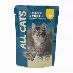 Консервы All Cats для кошек с курицей (в упаковке 25 шт. по 85 гр.)