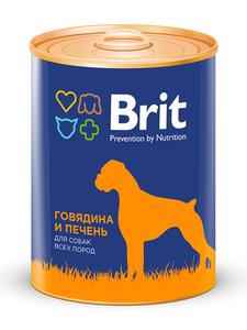 Brit Red meat&Liver, консервы для собак, говядина и печень