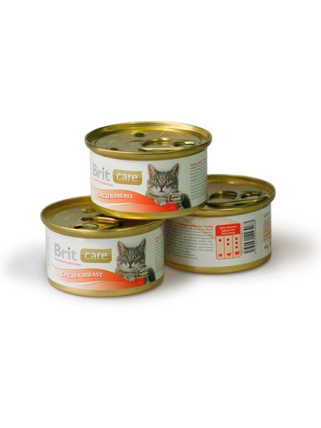 Brit Care Chicken Breast консервы для кошек, куриная грудка
