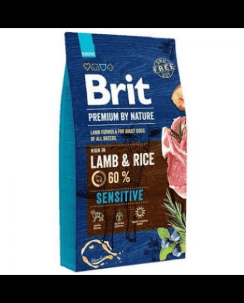 Brit Premium By Nature Sensitive Lamb and Rice для взрослых собак с чувствительным пищеварением