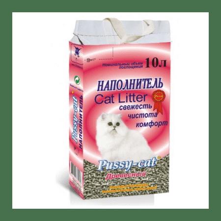 Pussy-cat древесный наполнитель для кошачьих туалетов (4,5л; 10л)
