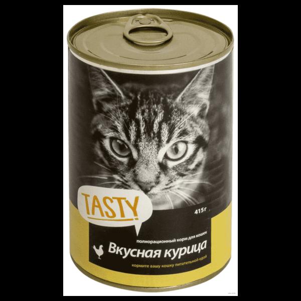 Консервы Tasty для кошек, курица в соусе