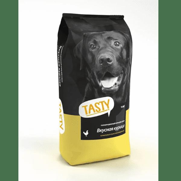Tasty, сухой корм для собак с курицей (2,2 кг 15 кг)