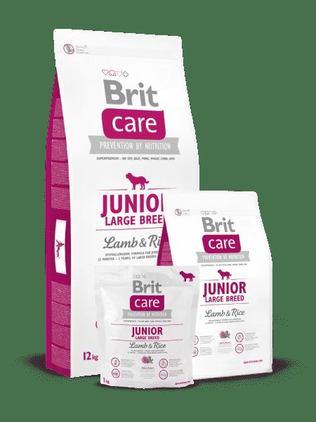 Brit Care Junior Large Breed для молодых собак крупных пород с ягненком и рисом