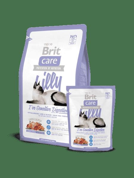 Brit Care Cat Lilly для кошек с ягнятиной и лососем для кошек с чувствительным желудком.