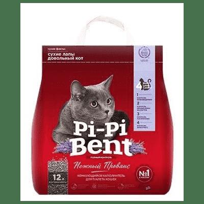 PI-PI-BENT  комкующийся наполнитель, нежный прованс для кошачьих туалетов