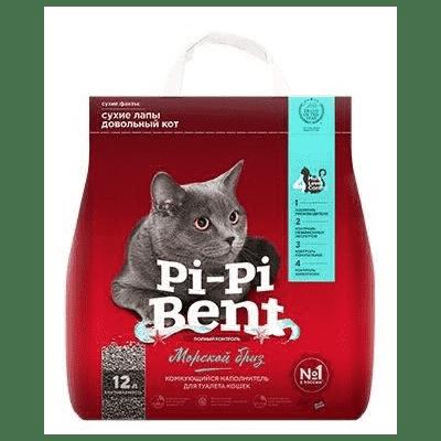 PI-PI-BENT  комкующийся наполнитель, морской бриз для кошачьих туалетов