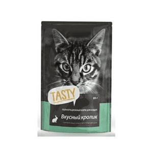 Пауч Tasty для кошек, кролик в желе (в упаковке 25 шт. по 85 гр.)