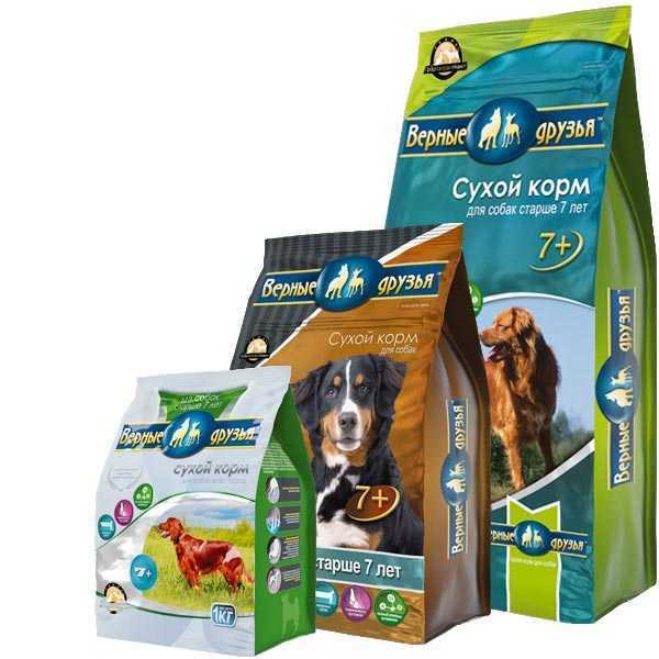 Верные друзья, сухой корм для взрослых собак старше 7 лет с курицей и цыпленком (15 кг).